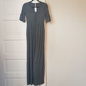 abf82857d0b6 Vinnie Louise/Bellamie Dahlia charcoal maxi dress